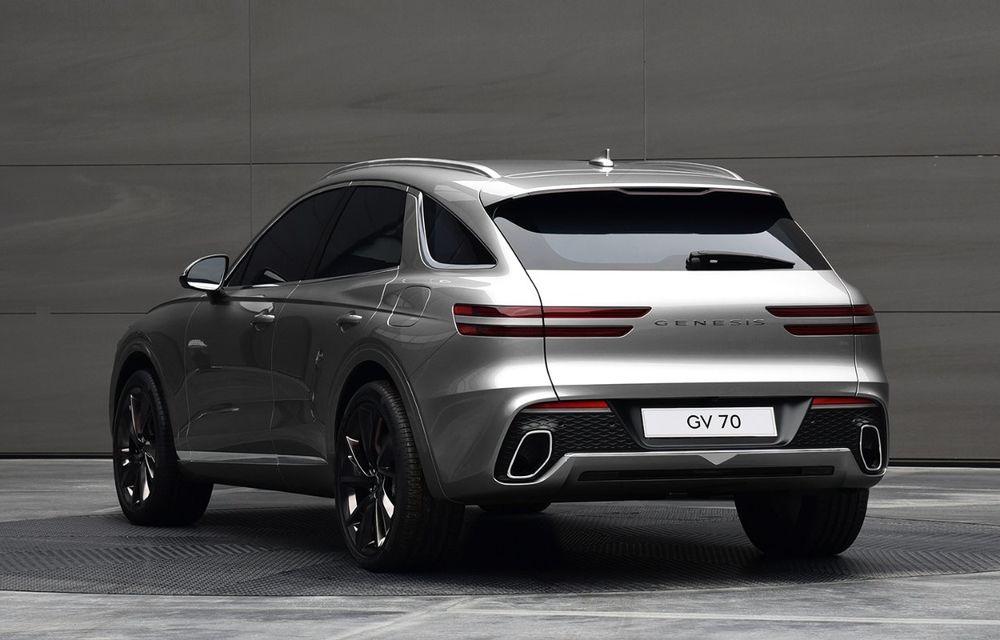 Primele imagini cu noul SUV Genesis GV70: detaliile tehnice vor fi anunțate în 8 decembrie - Poza 7