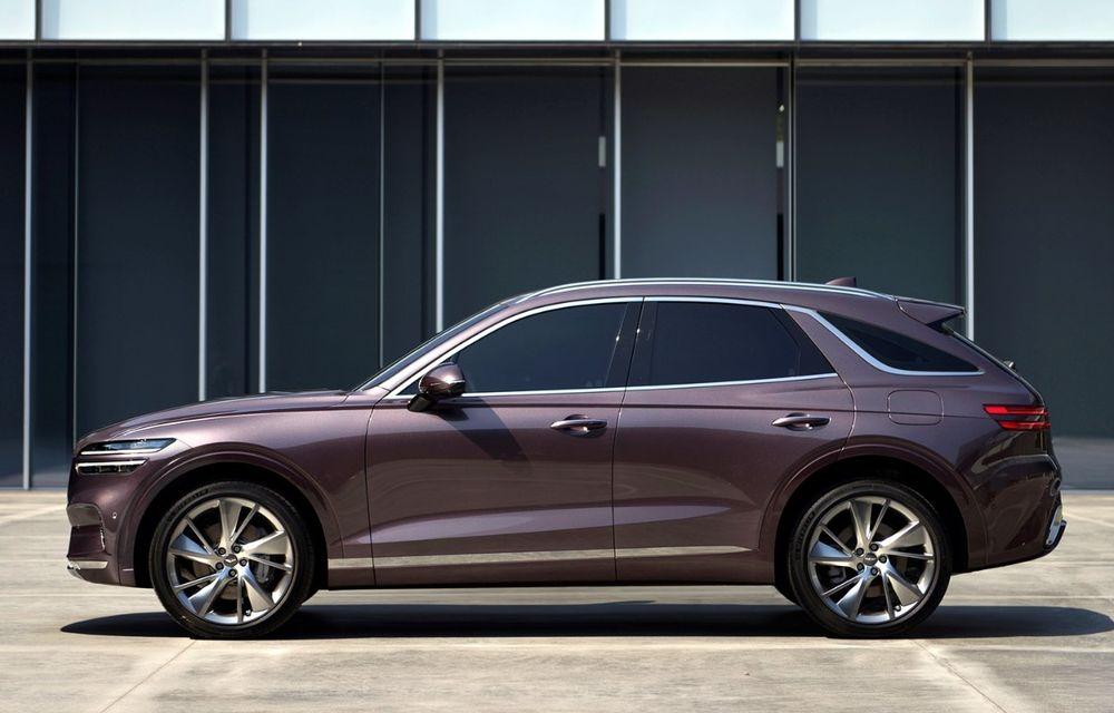 Primele imagini cu noul SUV Genesis GV70: detaliile tehnice vor fi anunțate în 8 decembrie - Poza 3