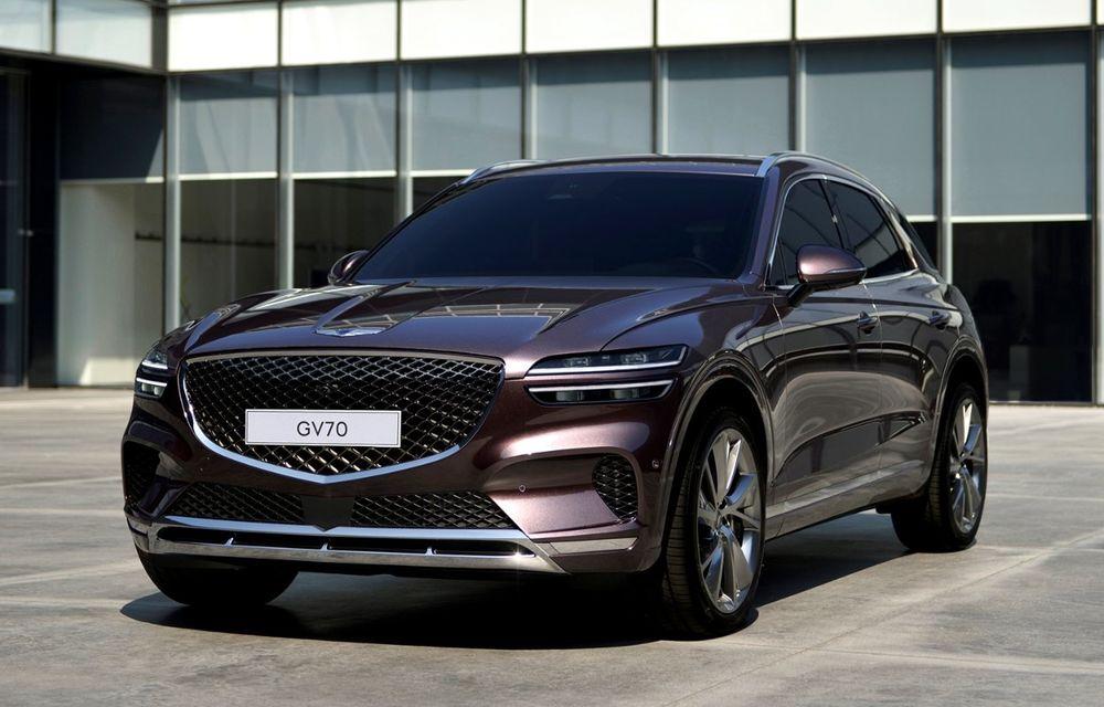 Primele imagini cu noul SUV Genesis GV70: detaliile tehnice vor fi anunțate în 8 decembrie - Poza 2