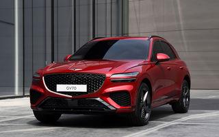Primele imagini cu noul SUV Genesis GV70: detaliile tehnice vor fi anunțate în 8 decembrie