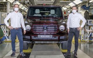 Mercedes-Benz Clasa G a ajuns la o producție totală de 400.000 de unități: