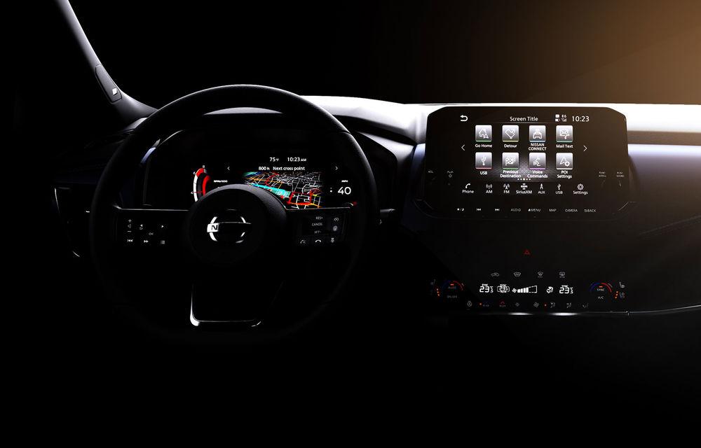 Primele imagini cu interiorul noii generații Nissan Qashqai: instrumentar digital de bord de 12.3 inch și sistem de infotainment de 9 inch - Poza 1
