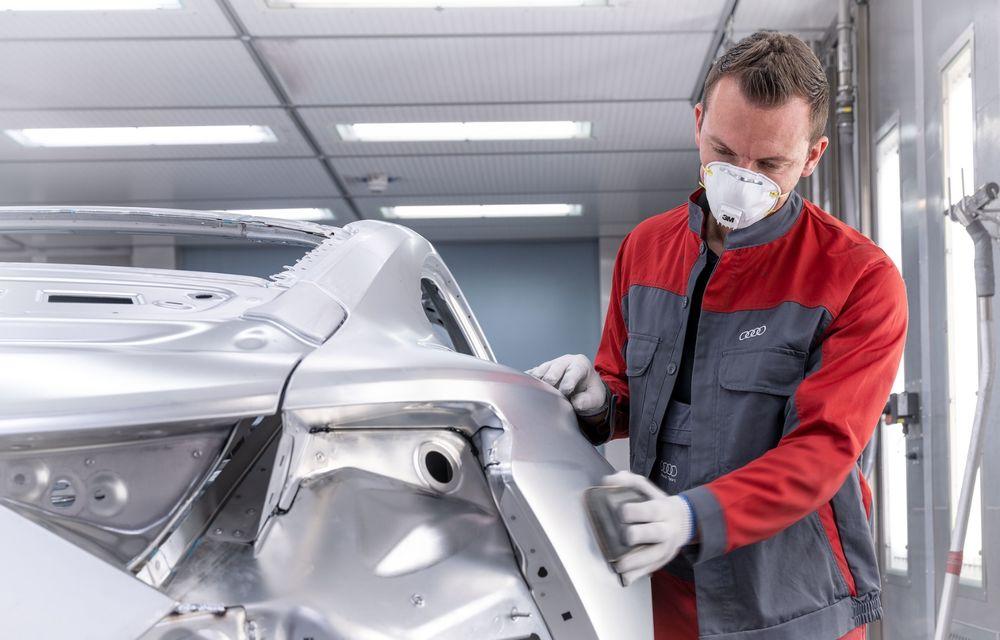 Audi a demarat producția modelului electric e-tron GT: listele de comenzi vor fi deschise în primăvara anului viitor - Poza 7