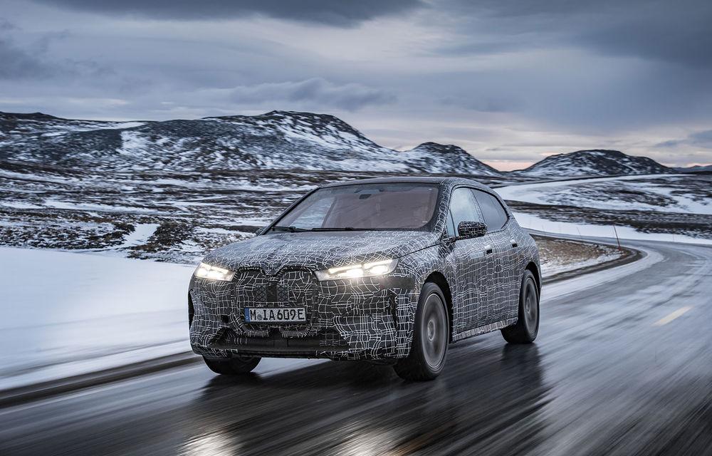 Anduranță cu prototipul viitorului SUV electric BMW iX: nemții au demarat sesiunile de teste în zona de nord a Europei - Poza 1