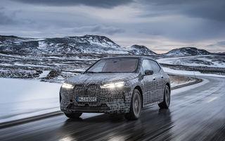 Anduranță cu prototipul viitorului SUV electric BMW iX: nemții au demarat sesiunile de teste în zona de nord a Europei