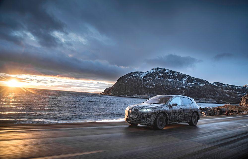Anduranță cu prototipul viitorului SUV electric BMW iX: nemții au demarat sesiunile de teste în zona de nord a Europei - Poza 8