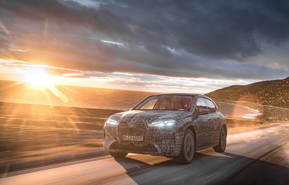 Anduranță cu prototipul viitorului SUV electric BMW iX: nemții au demarat sesiunile de teste în zona de nord a Europei - Poza 13