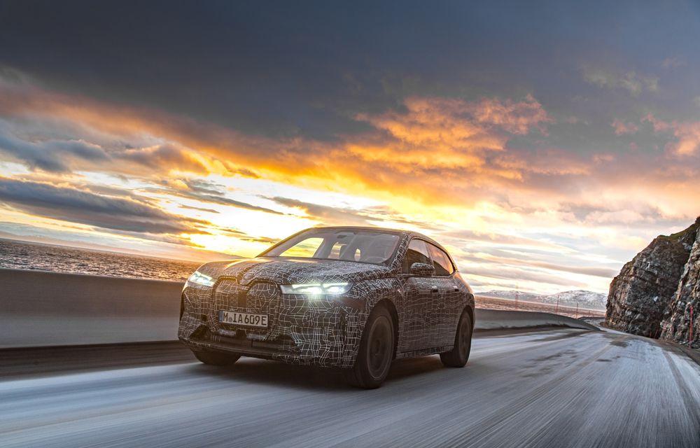 Anduranță cu prototipul viitorului SUV electric BMW iX: nemții au demarat sesiunile de teste în zona de nord a Europei - Poza 4