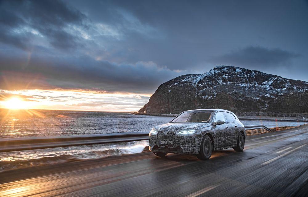 Anduranță cu prototipul viitorului SUV electric BMW iX: nemții au demarat sesiunile de teste în zona de nord a Europei - Poza 7