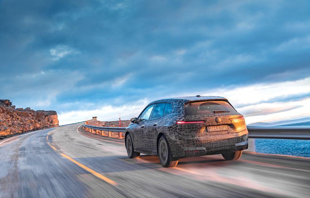 Anduranță cu prototipul viitorului SUV electric BMW iX: nemții au demarat sesiunile de teste în zona de nord a Europei - Poza 5