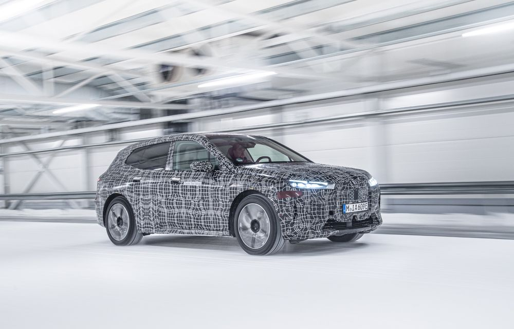 Anduranță cu prototipul viitorului SUV electric BMW iX: nemții au demarat sesiunile de teste în zona de nord a Europei - Poza 18