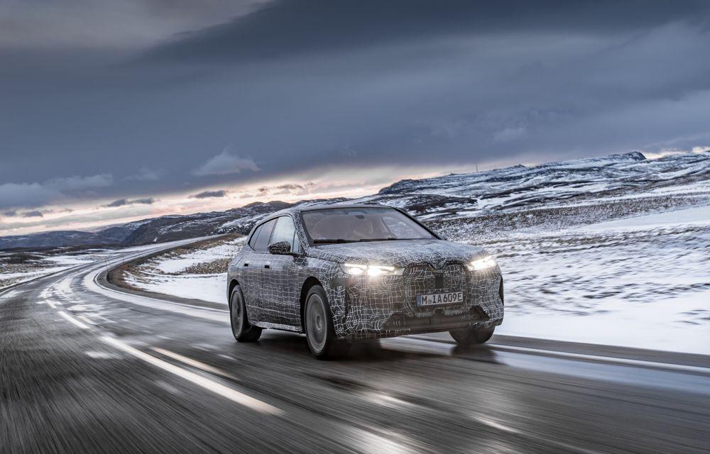 Anduranță cu prototipul viitorului SUV electric BMW iX: nemții au demarat sesiunile de teste în zona de nord a Europei - Poza 10