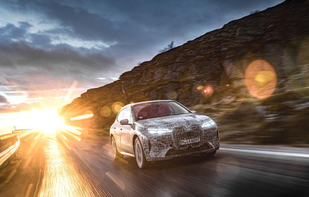 Anduranță cu prototipul viitorului SUV electric BMW iX: nemții au demarat sesiunile de teste în zona de nord a Europei - Poza 14