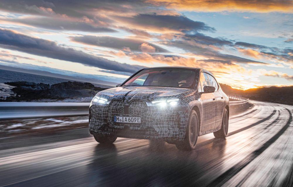 Anduranță cu prototipul viitorului SUV electric BMW iX: nemții au demarat sesiunile de teste în zona de nord a Europei - Poza 2