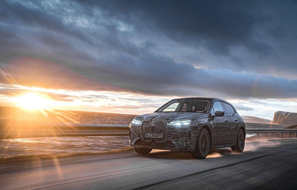 Anduranță cu prototipul viitorului SUV electric BMW iX: nemții au demarat sesiunile de teste în zona de nord a Europei - Poza 9