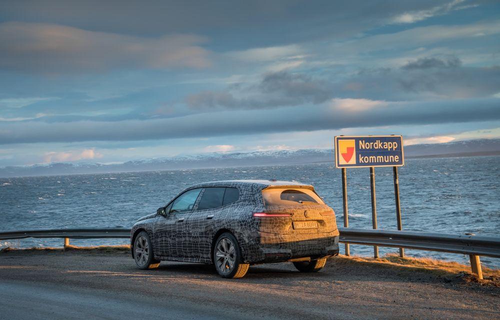 Anduranță cu prototipul viitorului SUV electric BMW iX: nemții au demarat sesiunile de teste în zona de nord a Europei - Poza 20