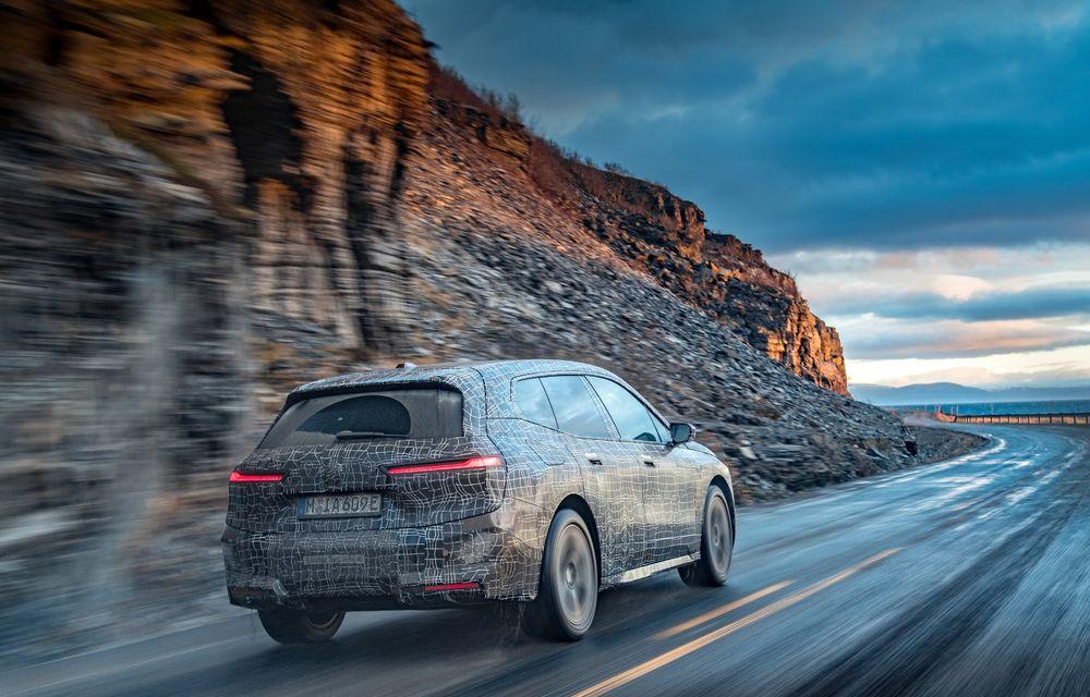Anduranță cu prototipul viitorului SUV electric BMW iX: nemții au demarat sesiunile de teste în zona de nord a Europei - Poza 6