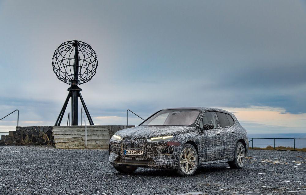 Anduranță cu prototipul viitorului SUV electric BMW iX: nemții au demarat sesiunile de teste în zona de nord a Europei - Poza 21