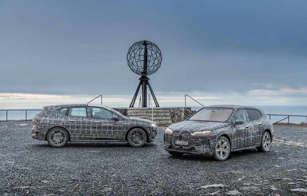 Anduranță cu prototipul viitorului SUV electric BMW iX: nemții au demarat sesiunile de teste în zona de nord a Europei - Poza 22