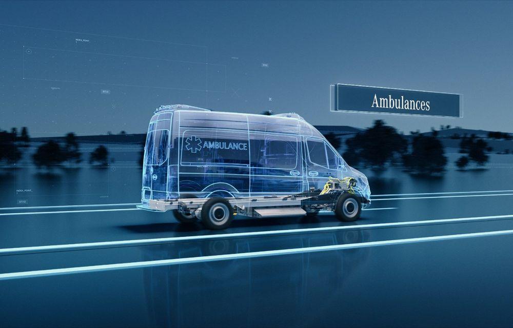 Mercedes-Benz anunță o platformă dedicată utilitarelor electrice: arhitectura va debuta pe viitoarea generație eSprinter - Poza 7
