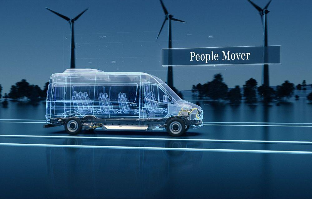 Mercedes-Benz anunță o platformă dedicată utilitarelor electrice: arhitectura va debuta pe viitoarea generație eSprinter - Poza 3