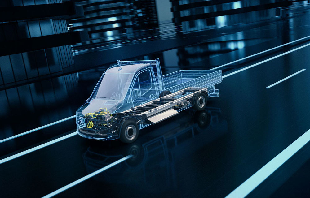 Mercedes-Benz anunță o platformă dedicată utilitarelor electrice: arhitectura va debuta pe viitoarea generație eSprinter - Poza 1