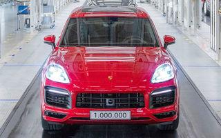 Moment special în gama Porsche: SUV-ul Cayenne ajunge la borna un milion