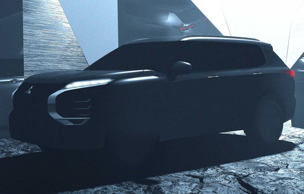 Primul teaser cu noua generație Mitsubishi Outlander: SUV-ul va fi prezentat în februrarie, dar nu va fi disponibil în Europa - Poza 1