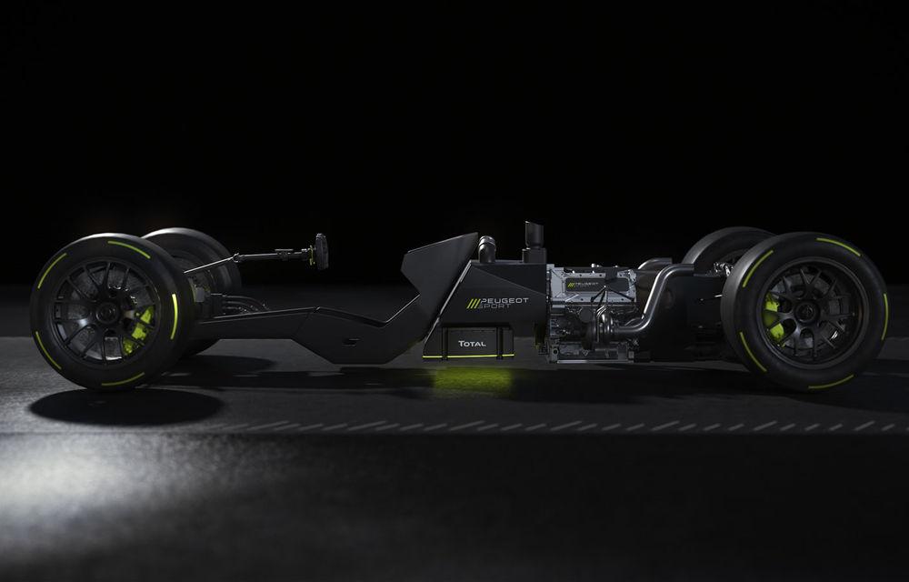 Detalii despre hypercar-ul Peugeot pentru Le Mans: plug-in hybrid cu motor pe benzină V6 de 2.6 litri și 680 CP plus un motor electric de 272 CP - Poza 7