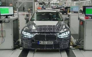Imagini sub camuflaj cu prototipul lui BMW i4: modelul electric de 530 de cai putere va fi lansat în versiune de serie în 2021