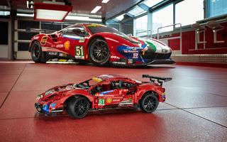 Versiune Lego pentru Ferrari 488 GTE: pachetul conține 1.677 de piese și va fi disponibil din 1 ianuarie