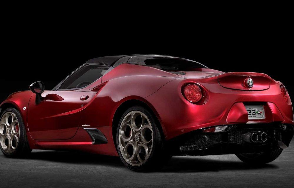 Alfa Romeo lansează ediția specială 4C Spider 33 Stradale Tributo: 33 de unități dezvoltate pentru piața din America de Nord - Poza 7