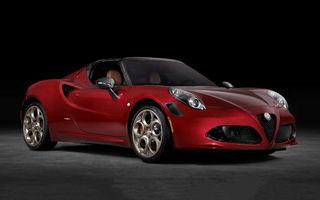 Alfa Romeo lansează ediția specială 4C Spider 33 Stradale Tributo: 33 de unități dezvoltate pentru piața din America de Nord