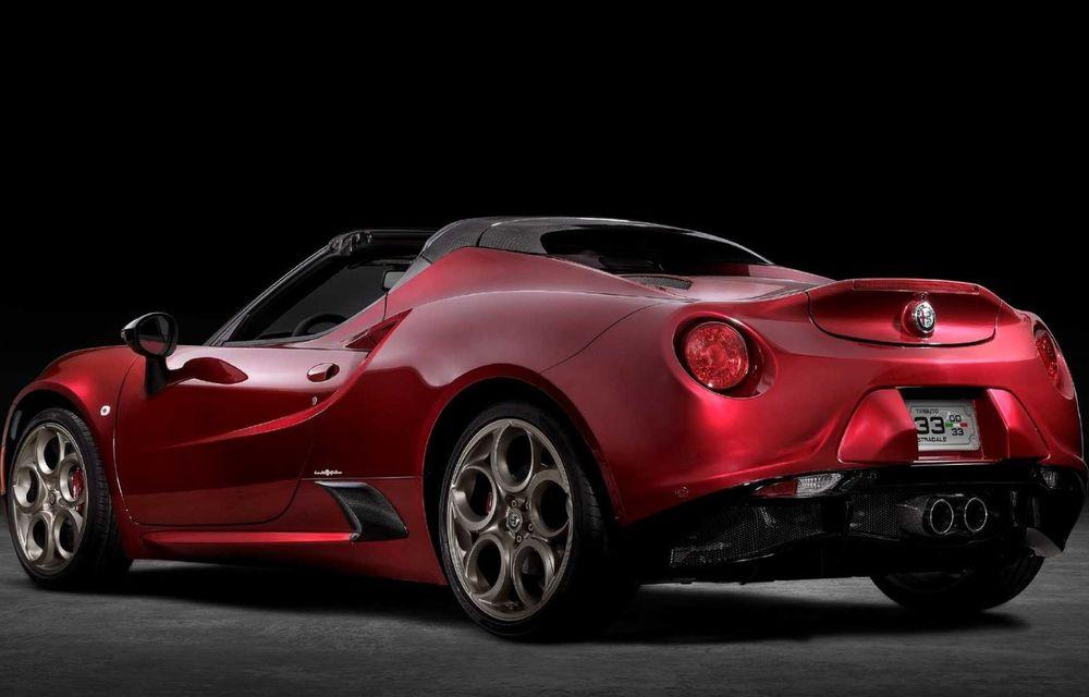Alfa Romeo lansează ediția specială 4C Spider 33 Stradale Tributo: 33 de unități dezvoltate pentru piața din America de Nord - Poza 6
