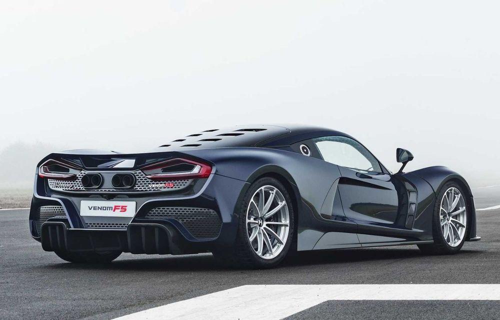 Hennessey a prezentat versiunea de serie a lui Venom F5: hypercar-ul cu peste 1.800 de cai putere va fi produs în 24 de unități - Poza 4