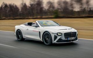 Bentley a început testele cu prototipul viitorului Mulliner Bacalar: modelul va fi produs în doar 12 exemplare