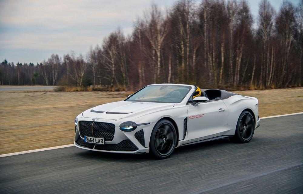 Bentley a început testele cu prototipul viitorului Mulliner Bacalar: modelul va fi produs în doar 12 exemplare - Poza 4