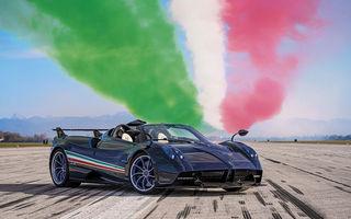 Pagani lansează Huayra Tricolore: modelul dedicat unei divizii de zbor acrobatic din Italia va fi produs în 3 unități