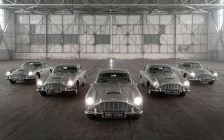 Aston Martin a început livrările modelului DB5 Goldfinger Continuation: britanicii au marcat momentul cu o ședință foto cu 5 dintre cele 25 de unități programate