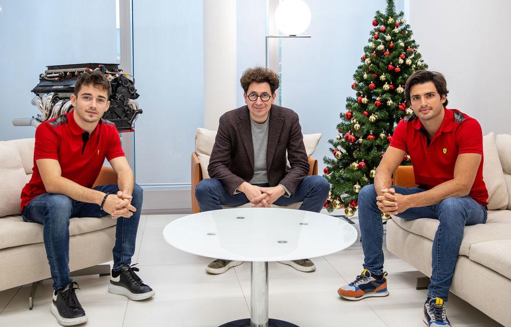 """Ferrari susține că nu va impune ordine de echipă în startul sezonului: """"Leclerc și Sainz vor fi liberi să lupte pe circuit"""" - Poza 1"""