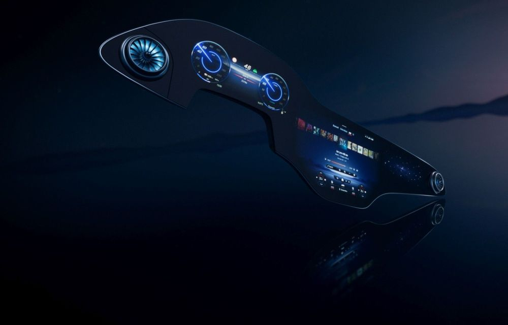 Mercedes prezintă noul sistem de infotainment MBUX Hyperscreen: display curbat de 141 cm - Poza 1