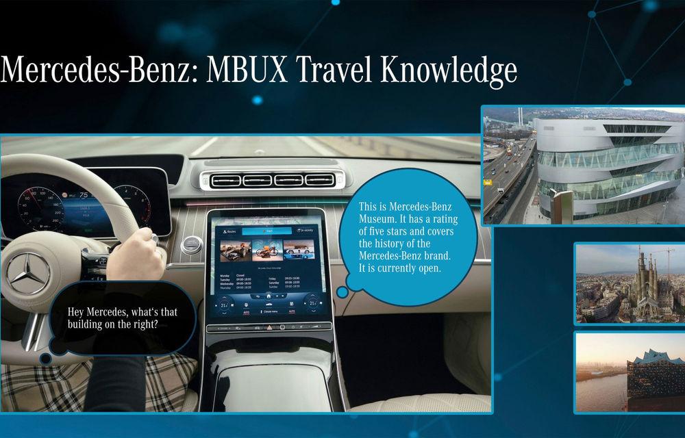 Detalii noi despre MBUX Hyperscreen, sistemul multimedia care va putea să facă pe ghidul în oraș - Poza 2