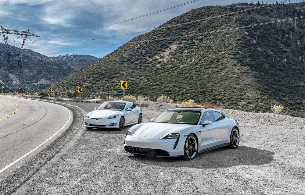 În Canada, jurnaliștii care testează Porsche Taycan primesc și un Tesla Model S pentru comparație - Poza 1