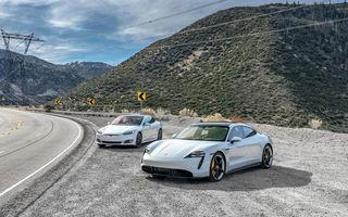 În Canada, jurnaliștii care testează Porsche Taycan primesc și un Tesla Model S pentru comparație