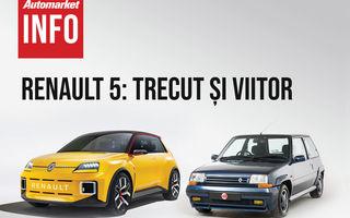 AUTOMARKET INFO: Renault 5 - cum arată conceptul în comparație cu modelul original