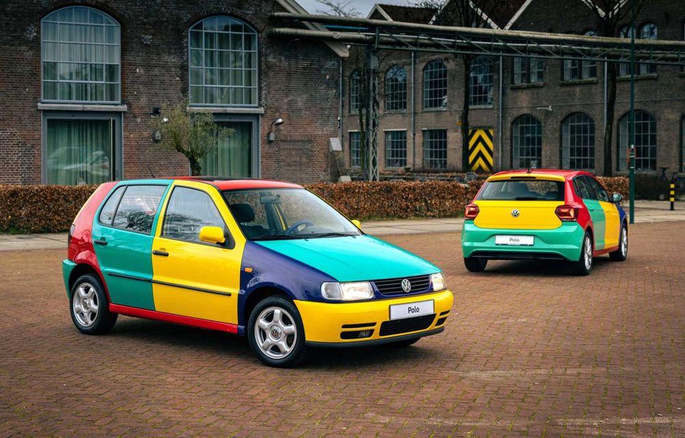 Volkswagen readuce la viață Polo Harlekin, o ediție multicoloră ingenioasă, lansată în 1994 - Poza 11