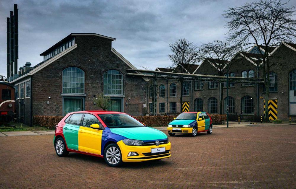 Volkswagen readuce la viață Polo Harlekin, o ediție multicoloră ingenioasă, lansată în 1994 - Poza 2