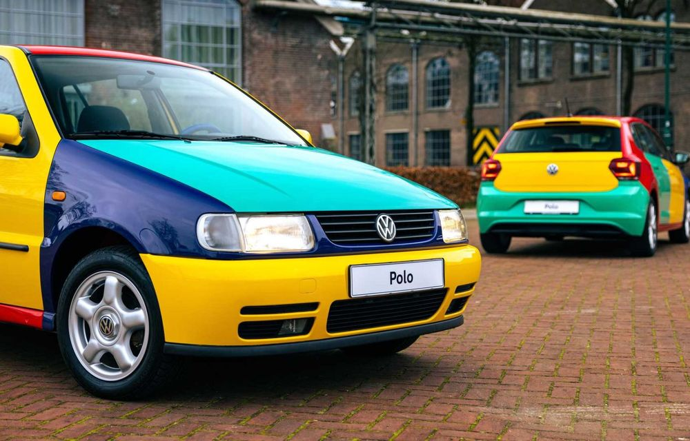 Volkswagen readuce la viață Polo Harlekin, o ediție multicoloră ingenioasă, lansată în 1994 - Poza 10