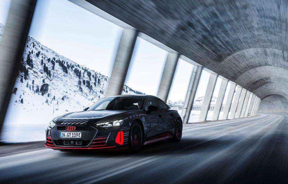 Imagini noi cu Audi e-tron GT: modelul electric va fi prezentat oficial în 9 februarie - Poza 9