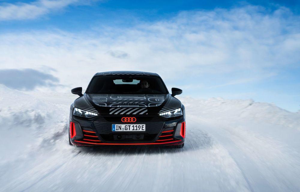 Imagini noi cu Audi e-tron GT: modelul electric va fi prezentat oficial în 9 februarie - Poza 3